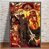 yiyiyaya Pintura al óleo VintageJapón Anime Art Poster Pintura de la Lona Imagen de la Pared Decoración para el hogar Carteles e impresiones-30x42_CM_Unframed_0006