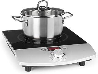 Klarstein VariCook - Single plaque de cuisson à induction, Taille compacte, Puissance 1800W, Chauffe rapide, Temperature r...