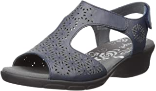 Propet Women's Winnie Sandal, navy, 07 D US