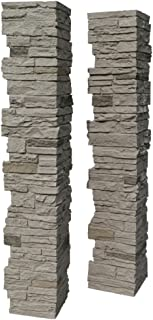 faux stone columns wrap