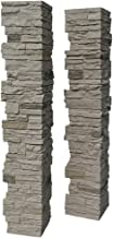 NextStone Polyurethane Faux Stone Split Post Cover - Slatestone Sahara