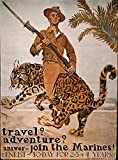 World War I US Poster NTravel Adventure American World War I Marine Corps Recruiting Poster C1918 By James Montgomery Flagg Poster Print by (18 x 24)