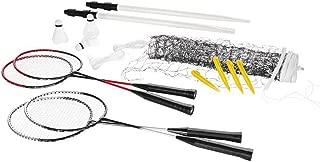 filet de jeu Ficelles et dancrage au sol 3/volants Crivit Badminton Set complet pour jusqu/à 4/joueurs: 4/raquettes