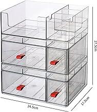 Organizator makijażu Organizatory Kosmetyczne Pudełko, Biżuteria Tray Vrity Blattop Display Case z szufladami, łatwy do mo...