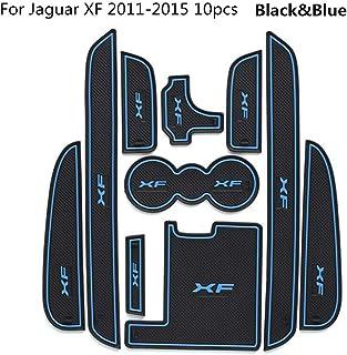 Leqi 10PCS Car Door Groove mat for Jaguar XF 2011-2015 Accessories,3D Rubber Car Mat Gate Slot pad Non-Slip mats Car Decor...