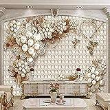 Pearl Jewelry Flower Customize 4D Wallpaper Tv Backdrop Wall Decoration Art Hd Print Poster Imagen para la sala de estar Dormitorio Hote Papel tapiz 3D Pegar la pared para el mural del dormitorio 200c