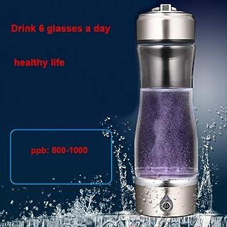 fefelike Wasserstoff Reiches Wasser Ionisator Flasche Tragbar Hydrogen-Rich Generator mit SPE Technologie Wasserstoff Konzentration 1000-1200 PPB 400 ml
