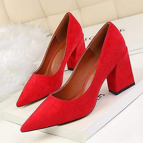 FELICIPP Chaussures Chaussures à Talons Hauts Pointues pour Femmes épaisses avec Chaussures à Talons Hauts  profiter de vos achats