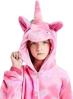 ABENCA Kids Fleece Onesie Unicorn Pajamas Animal Christmas Halloween Cosplay Costume