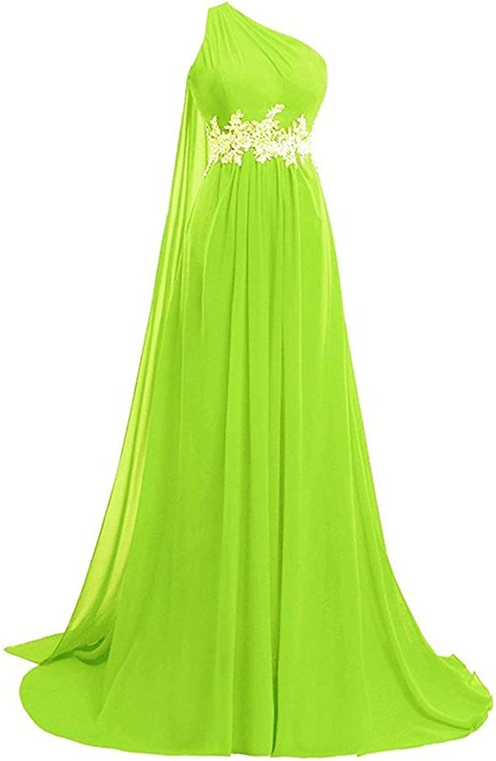 Alilith Z Womens One Shoulder Backless Beaded Rhinestones Long Prom Dresses Evening