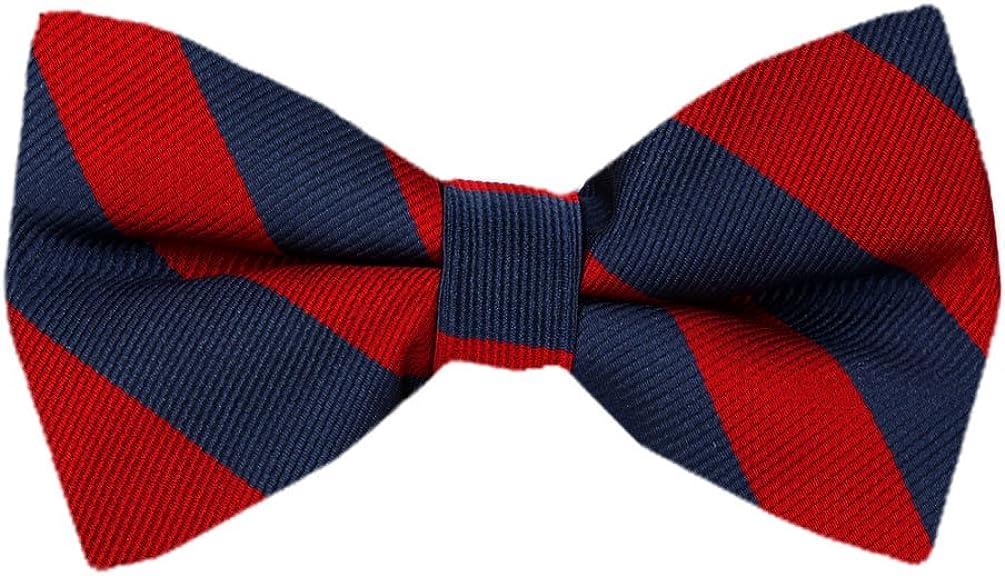 PBT-JCS-ADF-1-8 Men's College Repp Stripe Pre-tied Bow Tie