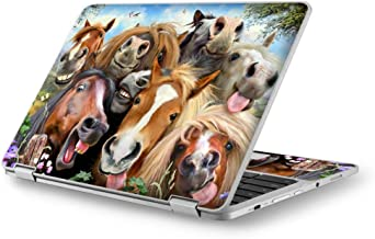 Selfie Horses - Custom Fits Acer Chromebook Laptop Notebook Skin Vinyl Sticker Cover Decal