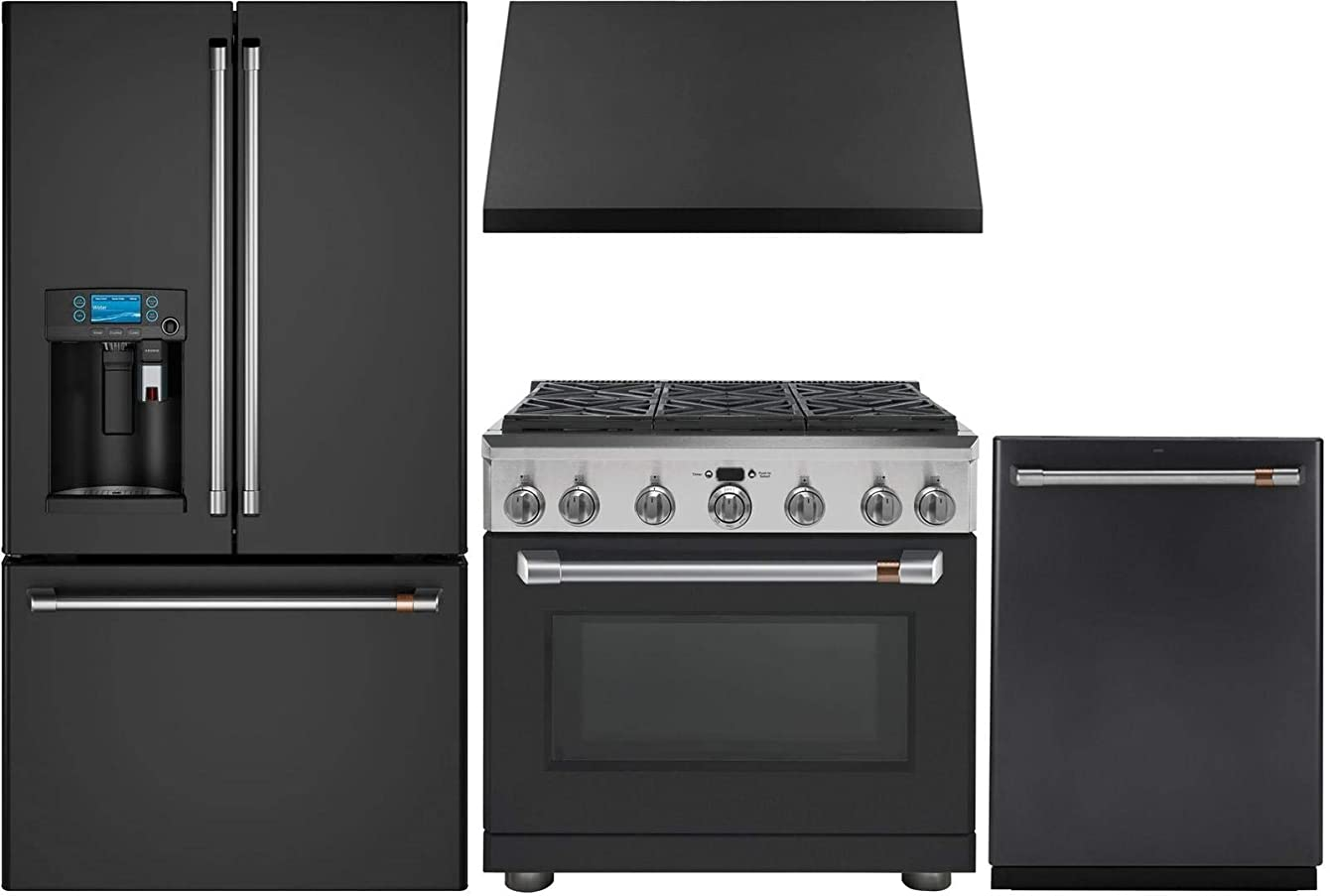 GE CAFE 4 Piece Kitchen Package with CYE22UP3MD1 36