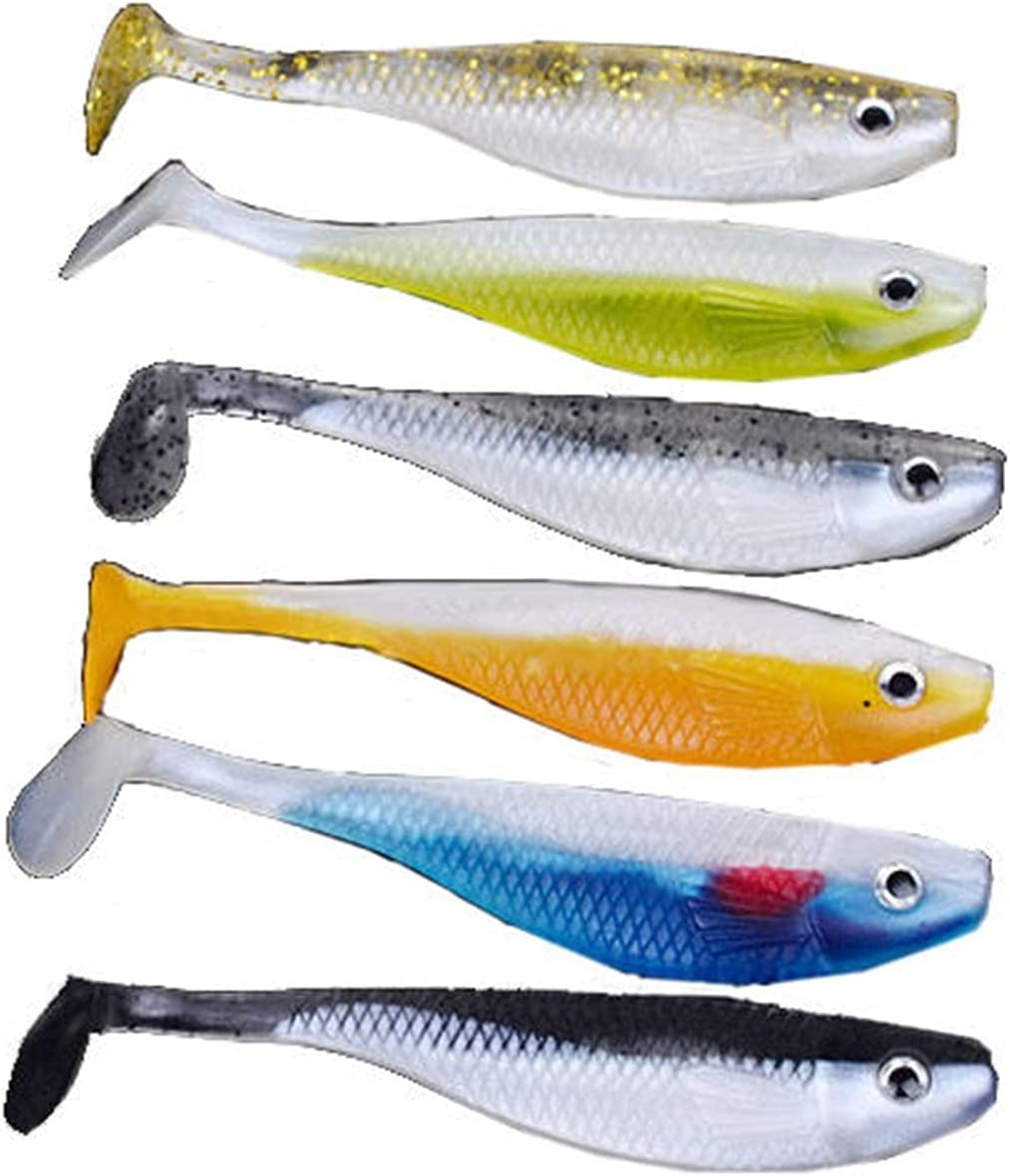 Bargain excellence XUEMEI 6PCS 11.5CM Soft Fishing Lure Bait Tail Jig Bass Rattle