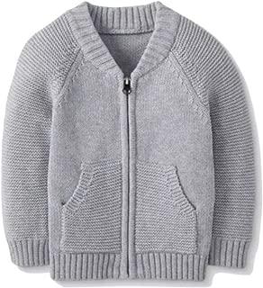 Hanna Anderson Zipfront Sweater Jacket, Gray, 3T (90)
