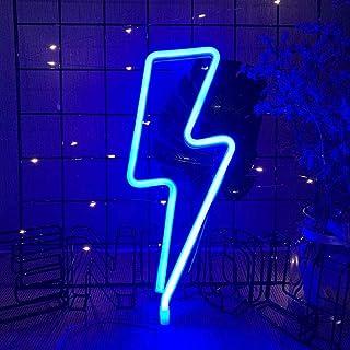Enseigne Lumineuse au Néon Éclair Neon Light LED Sign en Forme de Lumière Décoration Murale pour Anniversaire Décoration d...