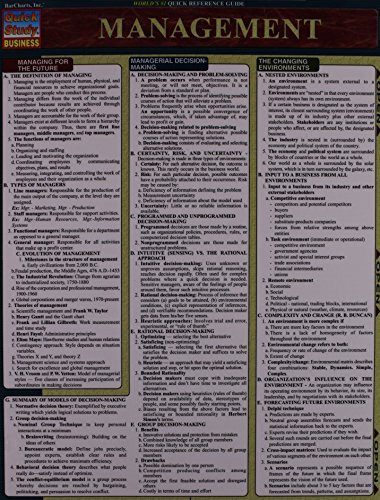 Management (Quickstudy Reference Guides - Academic)
