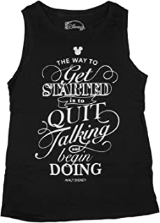 Disney Juniors The Way to Get Started Walt Disney Quote Muscle Tank