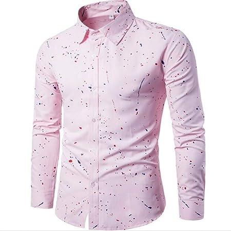 MUMU-001 Primavera Otoño Características Camisas Hombre ...