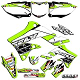 1990-1991 KX 125/250 (2-Stroke), Fly Racing Green Complete Senge Graphics kit, Compatible with Kawasaki