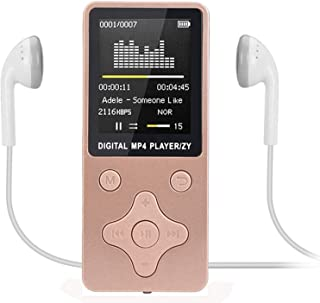 MP4 Player,Fashion Portable MP4 Lossless Sound Music Player,FM Recorder Set Casual Soild MP4 Player Apr16,Pink