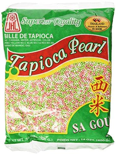 Tapioca Pearls, Tapioca Balls, Tapioca Pearls Small 14 Oz. Bags, Made From Cassava, Gluten-free (3 Pack) (Rainbow)