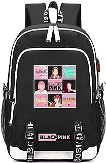 BLACKPINK Printed Backpacks Student School Bag Laptop Backpack with USB Charging Port