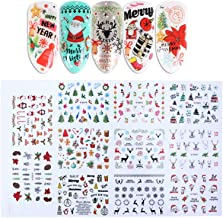 Hemore Navidad de Invierno 3D uñas Pegatina e875-885 1 Juego