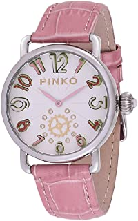 Pinko Women's White Dial Leather Band Watch - 21000-03