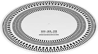 Disco de Vinilo Tacómetro, LP Profesional Disco de Vinilo Tocadiscos Fono Tacómetro Calibración Disco estroboscopio