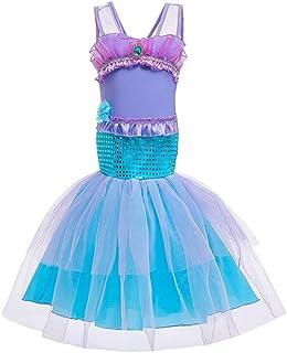 Tsyllyp Princess Mermaid Costume for Girls Fancy Birthday Party Dress Up Halloween Cosplay
