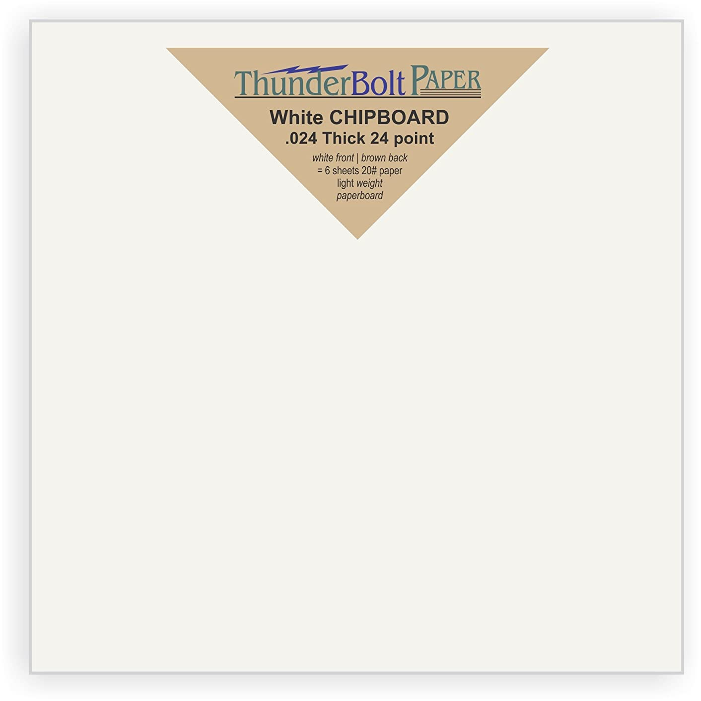 25 Sheets Chipboard 24pt white 1 side - 6