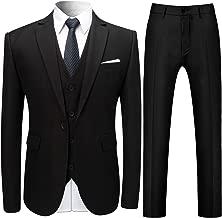 Allthemen Herren Slim Fit 3 Teilig Anzug Modern Sakko für Business Hochzeit Party