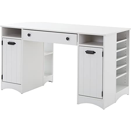 South Shore Artwork Craft Table with Storage-Pure White
