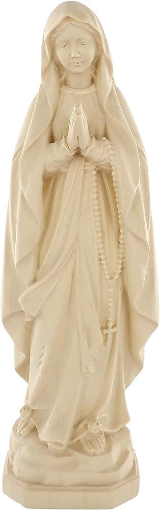 ferrari & arrighetti statua della madonna di lourdes in legno naturale 20 cm d1051_120