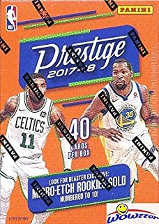 2017/18 Panini Prestige NBA Basketball Factory Sealed Blaster Box with (8) INSERTS/PARALLELS & (2) Micro-Etch ROOKIES! Look for RC'S & AUTOGRAPHS of Donovan Mitchell, Jayson Tatum & More! WOWZZER!