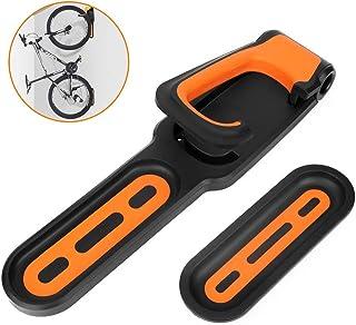 YMWD - Hebilla de estacionamiento ajustable para bicicleta montaje en pared estante de almacenamiento antideslizante he...