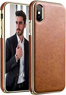 LOHASIC iPhone Xs Max Case, Premium Leather Luxury Thin&Slim Fit Soft Flexible TPU Hybird Rugged Bumper Anti-Slip Grip Sho...