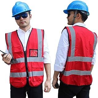 21b3c564840 RMJAI Chaleco de seguridad de alta visibilidad/Personalizado Su logotipo  Ropa de trabajo protectora/