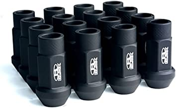 Blox Racing BXAC-00104-SSFB Lug Nut, Flat Black, 12 x 1.5mm, Set of 20