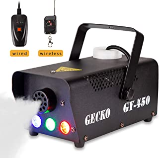 Fog Machine GECKO Smoke Machine Hood Portable LED Light With Wired and Wireless Remote..