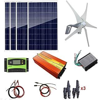 Pannello Solare 8 x 100 W regolatore Eolico Inverter da 3000 W Kit Vento Solare da 1200 W: Turbine eoliche da 400 W Picco 6000 W AUECOOR Controller MPPT