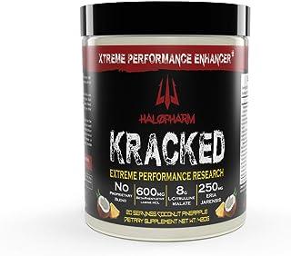 Halopharm KRACKED Fully Loaded Nitric Oxide Pre Workout Powder - Extreme Strength Stimulant - 8000mg Citrulline Malate - T...