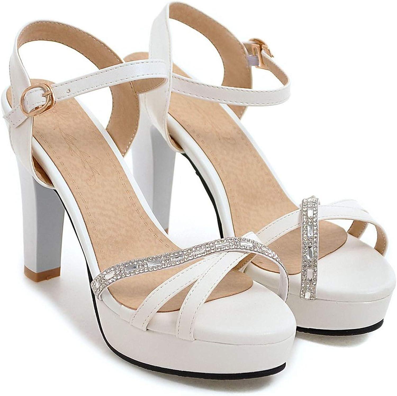 Pink-star Women high Heel Sandals Cross-Over T-Shape Design Female high Heels Platform shoes