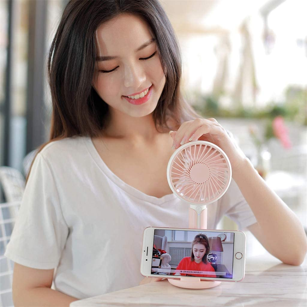Togethor Mini Portable USB Rechargeable Battery Fan Table Desk Fan Indoor and Outdoor Quiet Travelling Handheld Fan