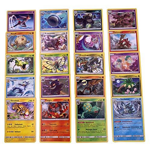 Pokemon - 20 verschiedene seltene Karten + GECO® Spielmatte - deutsch