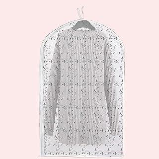 Dust cover Sac à poussière, Cache-poussière, Housse pour vêtements, Sac à Suspendre, Housse de Manteau, Sac de Rangement D...