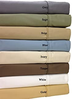 Royal Hotel 650-Thread-Count Bed Sheets - Wrinkle Free Sheets - Deep Pocket, Cotton Blend, Sateen Sheets, Hypoallergenic, ...