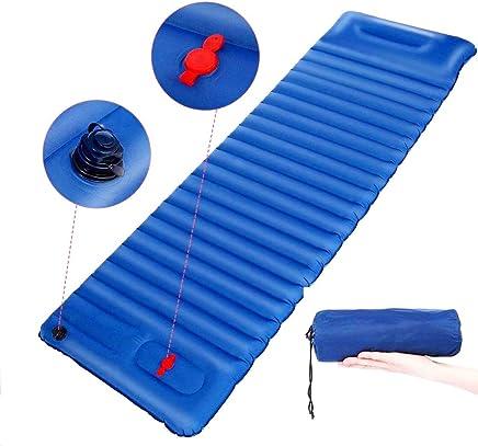 Eletam Esterilla Inflable Esterilla Camping Esterilla Hinchable Ligera Portátil con Almohada para Viajes/Exterior/Senderismo/Playa190*65 * 8.5cm
