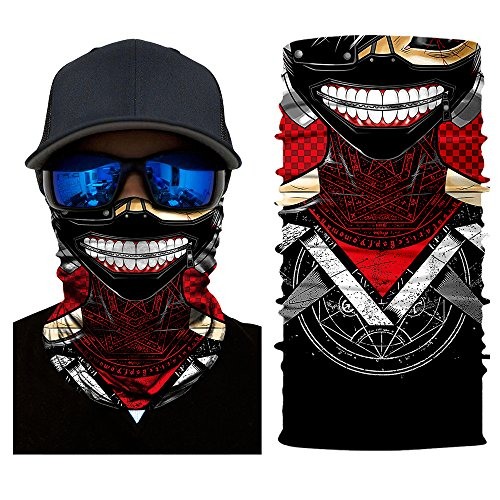 RNGEDG Tokyo Ghouls Neck Gaiter Headwear, Seamless Bandana Tube Sun Face Mask,UV Versatile Sport Headband Bandana for Men Women Dust Outdoor Climbing Camping Hiking Fishing Running Cosplay